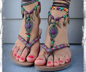 sandals, shoes, and bangle image