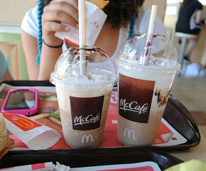 drink, food, and mccafe image