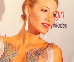 blake lively, dress, and make up image
