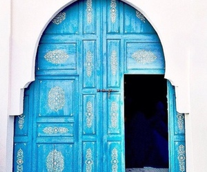 blue, cool, and door image