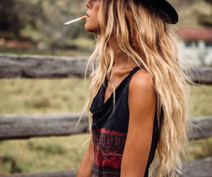 hair, blonde, and hat image
