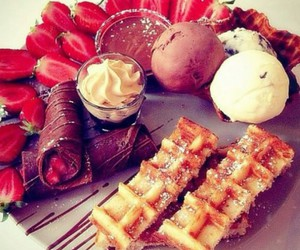 food, strawberries, and ice image