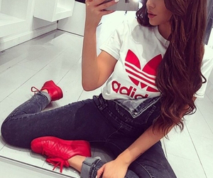adidas, red, and style image