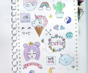 drawing, unicorn, and cute image