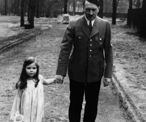 adolf hitler, children, and monochrome image