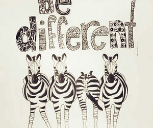 different, zebra, and be image