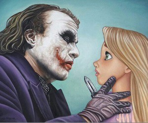 joker, disney, and rapunzel image