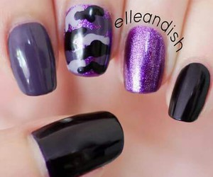 camouflage, purple, and nails image