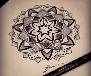 art, drawing, and dotwork image
