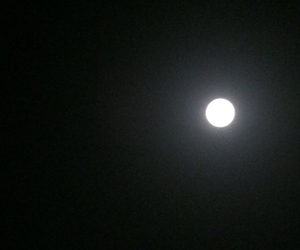 black and white, light, and moon image