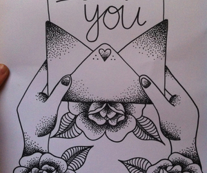 love, drawing, and I Love You image