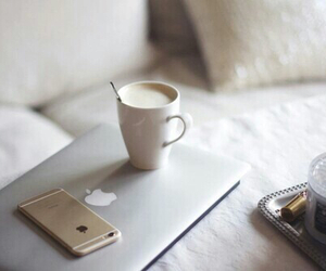iphone, coffee, and apple image
