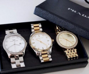 watch, Prada, and luxury image
