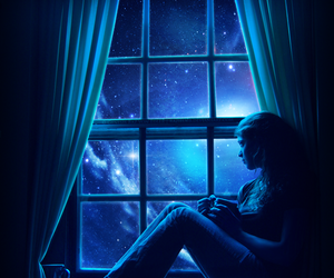 alone, girl, and home image