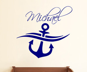 Vinyl Decal, wall decals, and personalized name image
