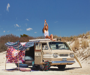 beach, clothes, and travel image