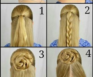 hair, blonde, and diy image