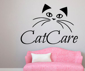 baby kitten, vinyl stickers, and wall decals image