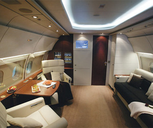 airplane, hight, and luxury image