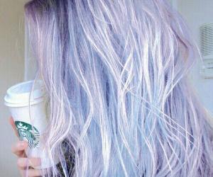 hair, starbucks, and blonde image