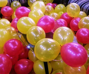 balloons, beautiful, and birthday image
