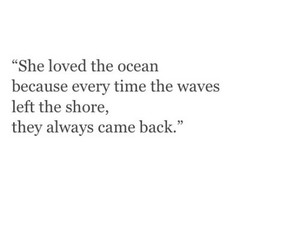 ocean, waves, and love image