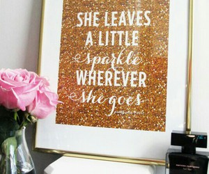 sparkle, gold, and quote image