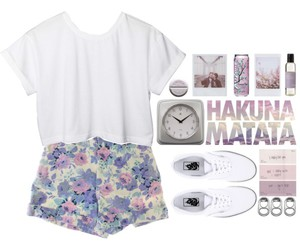 casual, Polyvore, and floral image