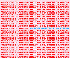 red, quotes, and obligation image