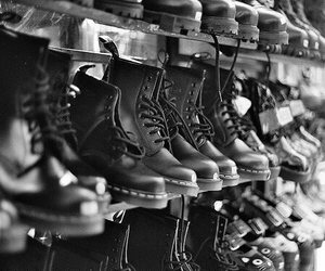 boots, shoes, and black image