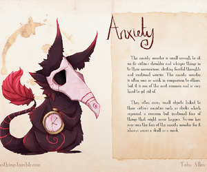 anxiety, monster, and toby allen image