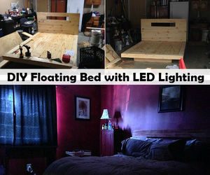 bed, floating, and diy image