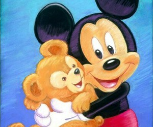disney, mickey mouse, and teddy bear image