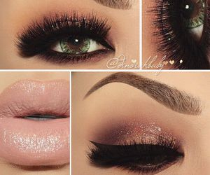beauty, eye lashes, and lips image