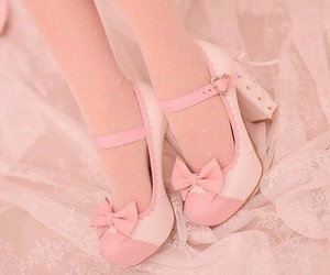 heels, japanese, and pink image