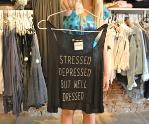 fashion, depressed, and stressed image