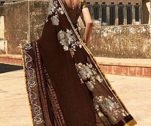 india, saree, and sari image