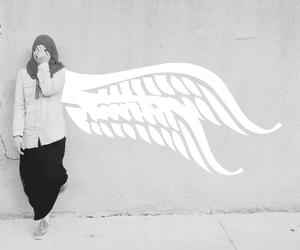 angel, couple, and hijab image