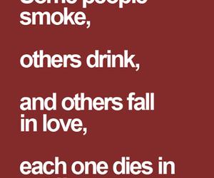 smoke, love, and drink image