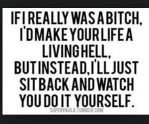 bitch, quote, and hell image
