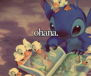 ohana, family, and stitch image