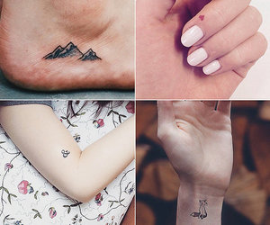 black and white, tattoo, and small image