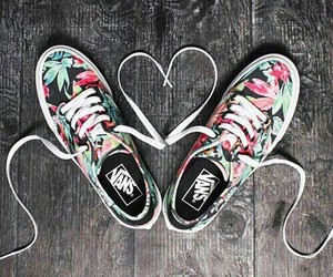 vans, shoes, and heart image