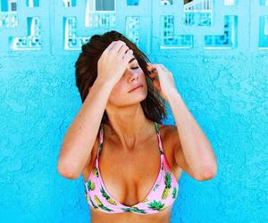 bikini, girl, and pineapple image