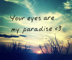 paradise, eyes, and love image