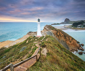 lighthouse, photography, and castlepoint image