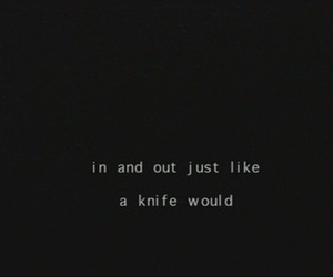 knife and text image