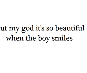 boy, smile, and quote image