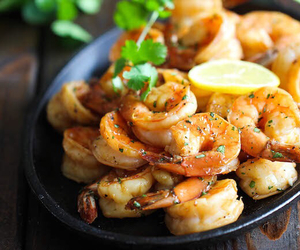 food, shrimp, and yummy image