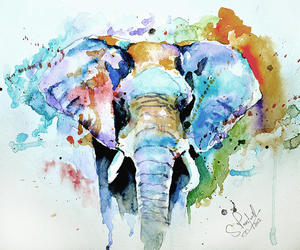 art, painting, and watercolour image